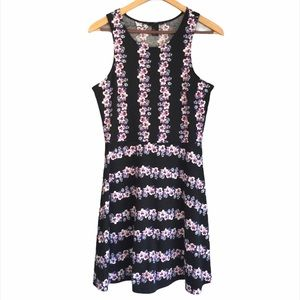 H&M Sleeveless Cute Floral Skater Mini Dress XS